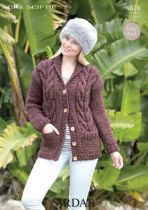 Sirdar Big Softie - 9829 Jacket Knitting Pattern